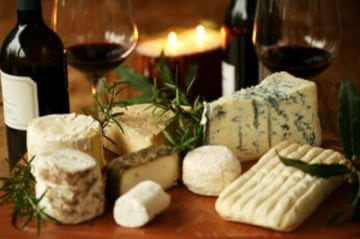 Cheese and wine romantic package