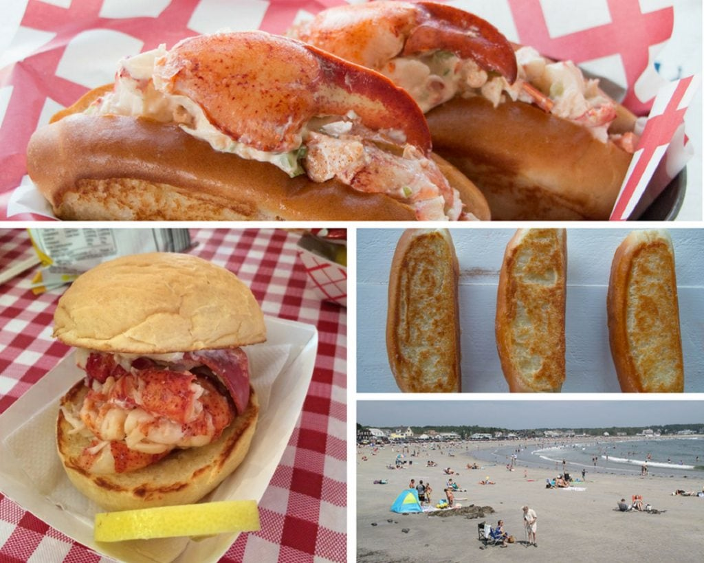 Lobster Rolls and other foods collage