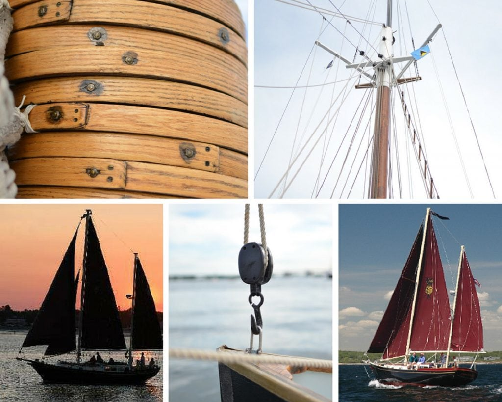 Sailing photos collage