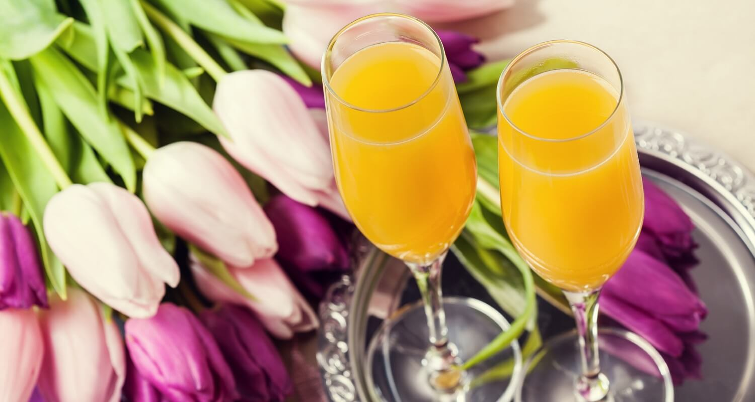 mimosas and flowers