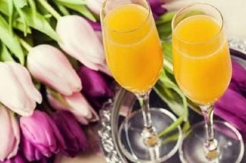 Mimosas with flowers