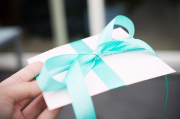 Gift Envelope with Blue Bow